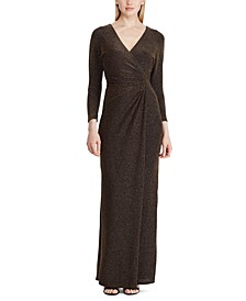 Metallic Surplice Gown