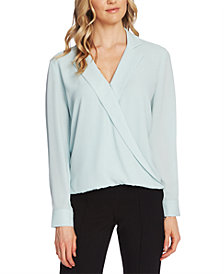 Vince Camuto Notch-Collar Surplice Top