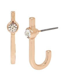 BCBGeneration Rose Gold Curved Stick Earrings