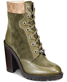 COACH Hedy Lace-Up Booties
