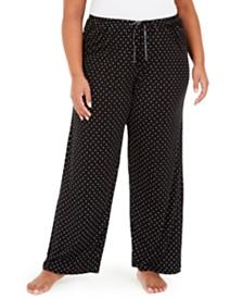 Hue® Plus Size Dot-Print Pajama Pants