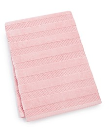 "Velour Stripe Cotton 30"" x 54"" Bath Towel"