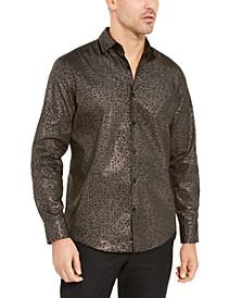 Men's Classic-Fit Geometric Grid-Print Shirt, Created For Macy's