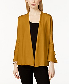 Petite Tie-Sleeve Cardigan, Created for Macy's