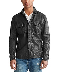 Polo Ralph Lauren Men's Leather CPO Shirt Jacket