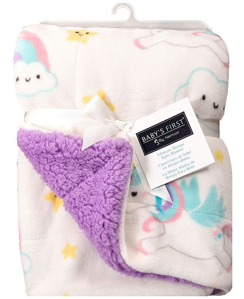 Baby S First By Nemcor Ultimate Sherpa Baby Blanket