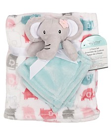 2-Piece Blanket Buddy Set, Pink Elephant