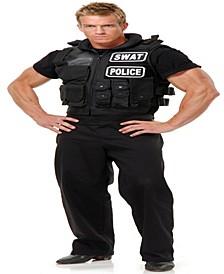 Buy Seasons Men's Swat Team Vest Costume