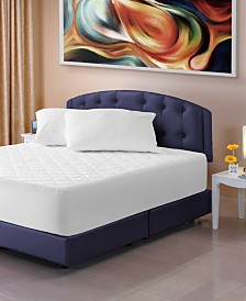 Quilted Waterproof Mattress Pad, Fitted Sheet, Cotton Surface - King