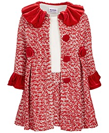 Little Girls 2-Pc. Tweed Coat & Dress Set