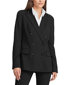 Lauren Ralph Lauren Ponte Double-Breasted Blazer