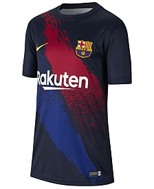 Nike Big Boys FC Barcelona Club Team Pre-Match Top