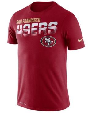 Nike Men's San Francisco 49ers Sideline Legend Line of Scrimmage T-Shirt