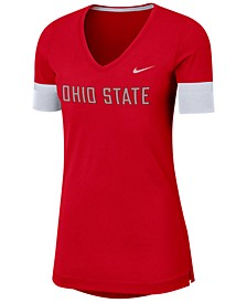 Women's Ohio State Buckeyes Fan V-Neck T-Shirt