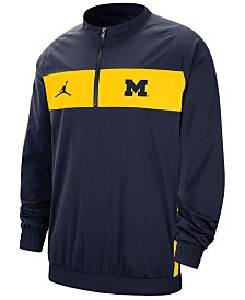 Jordan Men's Michigan Wolverines Sideline Quarter-Zip Pullover