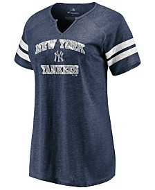 Majestic Women's New York Yankees Heart and Soul Foil T-shirt