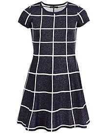 Big Girls Glitter Check Dress
