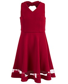 Big Girls Illusion-Inset Knit Dress