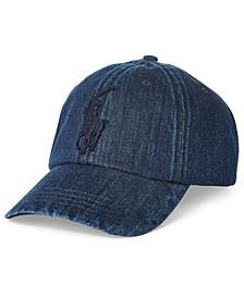Men's Pony Denim Baseball Cap