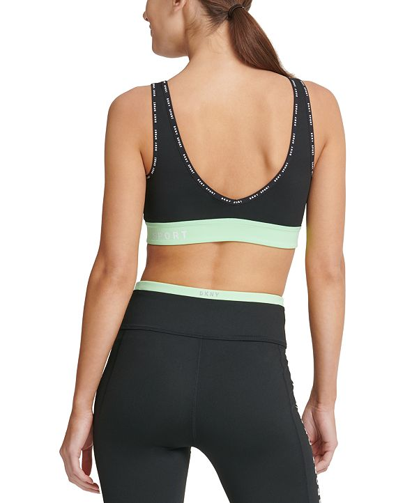Nike Womens Swoosh Logo Scoop-Back Medium-Support Sports
