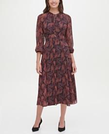 Tommy Hilfiger Paisley Midi Dress