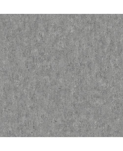 "Engblad & Co Engblad Co 21"" x 396"" Raw Dark Concrete Wallpaper"