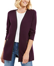 Petite Milano Cotton Completer Sweater, Created for Macy's