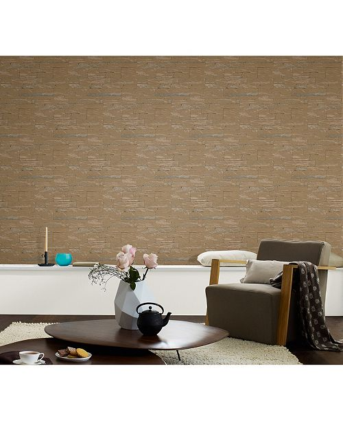 "20.5"" x 396"" Rheta Stone Wallpaper"