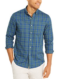 Men's Regular-Fit Performance Stretch Plaid Shirt, Created For Macy's