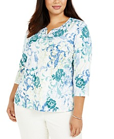 Plus Size Floral-Print Top