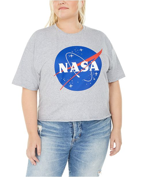 Love Tribe Trendy Plus Size NASA Graphic T-Shirt
