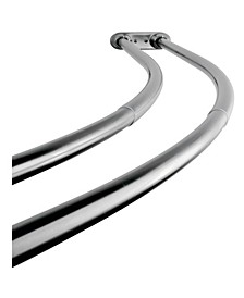 60-Inch - 72-Inch Adjustable Double Curved Shower Curtain Rod in Polished Chrome