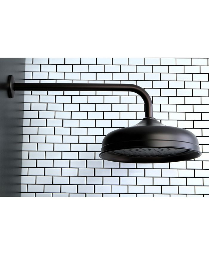 Kingston Brass - Trimscape 10-Inch Shower Head with 17-Inch Ceiling Mounted Shower Arm in Oil Rubbed Bronze