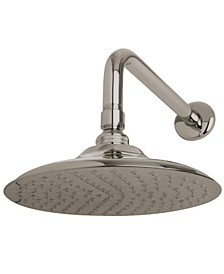 Victorian 7-3/4-Inch OD Brass Shower Head with 12-Inch Shower Arm in Brushed Nickel