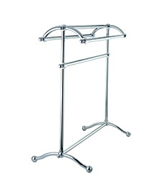 Vintage Pedestal Towel Rack in Polished Chrome