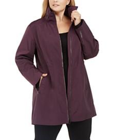 Calvin Klein Performance Plus Size Zipper Hood Warm-Up Jacket