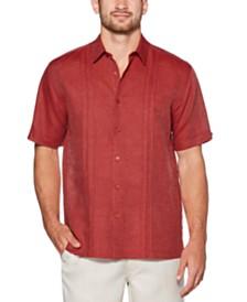 Cubavera Men's Inverted Tuck Panel Short Sleeve Shirt