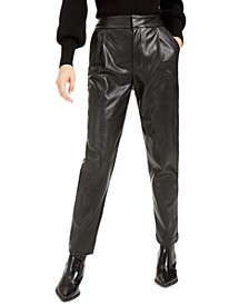 Becca Tilley x Pleated Faux-Leather Pants, Created For Macy's