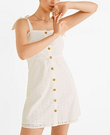 Bow Embroidered Dress