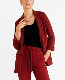 Structured Crepe Blazer