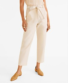 Mango Cotton Culotte Trousers