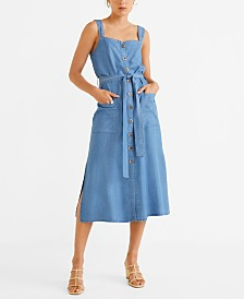 Mango Denim Style Soft Dress