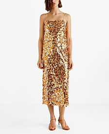 Mango Sequined Midi Dress