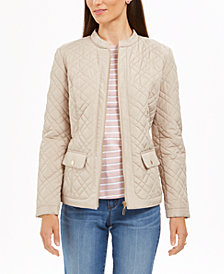 Charter Club Quilted Mandarin-Collar Jacket, Created for Macy's