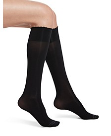 Women's Graduated Compression Opaque Knee High Socks