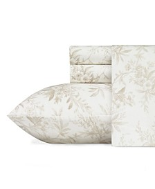 Laura Ashley Faye Toile Flannel Queen Sheet Set