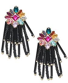 INC Gold-Tone Stone & Bead Chandelier Earrings, Created For Macy's