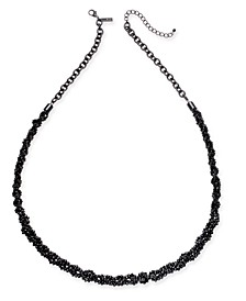 """INC Black-Tone Beaded Statement Necklace, 32"""" + 3"""" extender, Created For Macy's"""