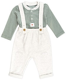 Baby Boy 2-Piece Bodysuit and Overall Outfit Set