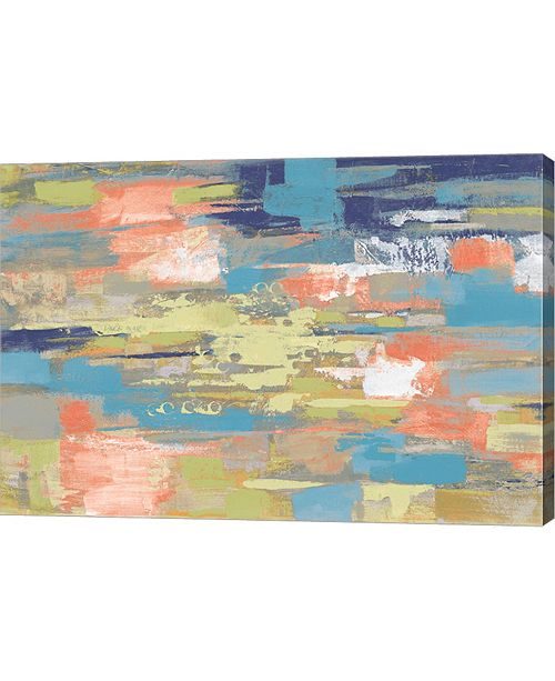 "Metaverse Urban Walkway Bright by Silvia Vassileva Canvas Art, 29"" x 20"""